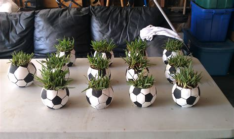 Pin By Yolanda Preyar On Craft Ideas Diy Pinterest Soccer Banquet Centerpiece Ideas