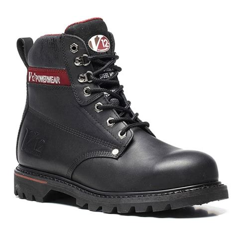 safety boots 22 v1235 v12 black boulder safety boot from a d supplies