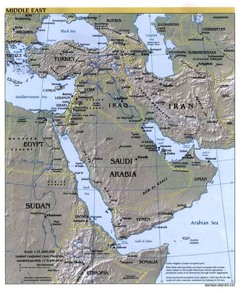 middle east map cia near east middle east