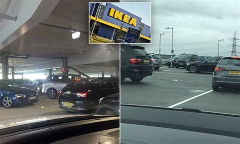 stuck shop ikea reading customers get stuck in a store s car park for