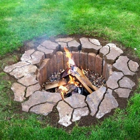 building a firepit in your backyard 7 diy fire pits you can build blissfully domestic