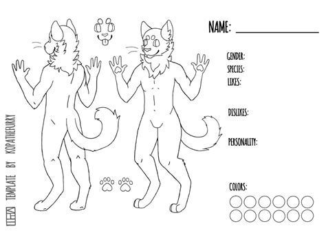 fursona template related keywords fursona template