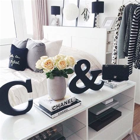 chanel wallpaper for bedroom bedroom black black and white chanel goals image