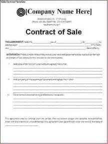 Sales Contract Agreement Template by 4 Sales Agreement Templatereport Template Document