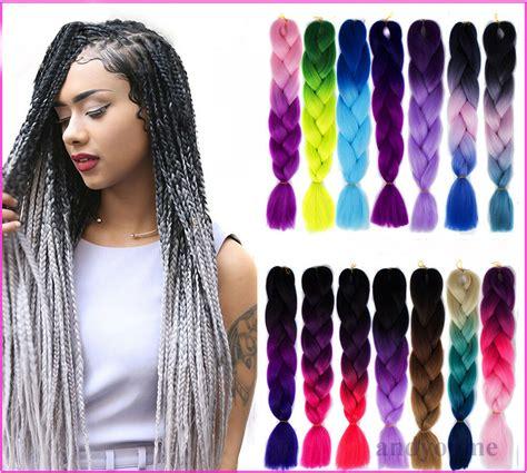 colored kanekalon hair 24 quot ombre dip dye kanekalon jumbo braid two tone gradient