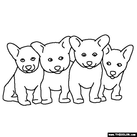 Litter Of Puppies Coloring Pages | litter of puppies coloring page pictures kittens and to
