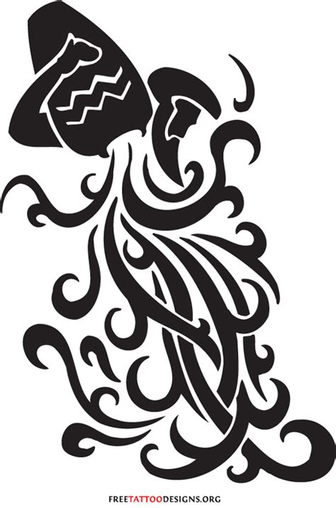 tribal aquarius tattoos for guys aquarius tattoos and designs page 31