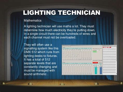 Lighting Technician by Lighting Technician Requirements Lighting