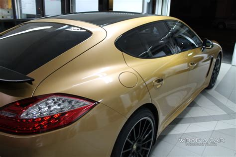 Folie Gold Auto by Panamera Gold Folierung