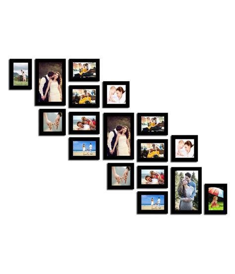 wall hanging collage picture frames swadesistuff mdf wall hanging black collage photo frame