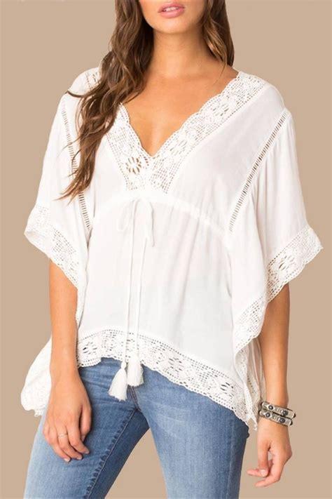 v boho white tops black swan white boho top from miami by chica