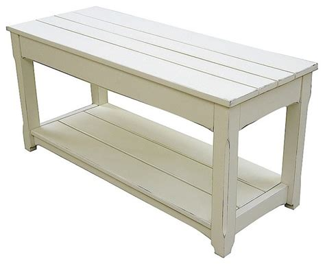 White Cottage Table by Trade Winds Furniture White Cottage Plank Bench And Coffee