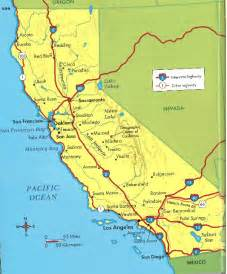 map of california with cities california cities map