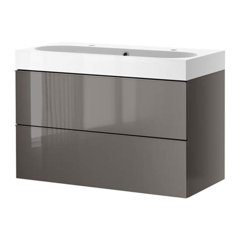 high gloss grey bathroom cabinets godmorgon br 197 viken sink cabinet with 2 drawers high