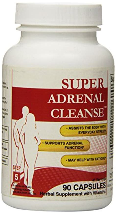 Adrenal Detox Supplements by Health Plus Adrenal Cleanse Capsules 90 Count Health