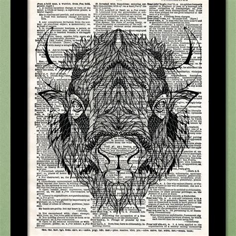tattoo printer price in india bison tattoo dictionary art print buy bison tattoo