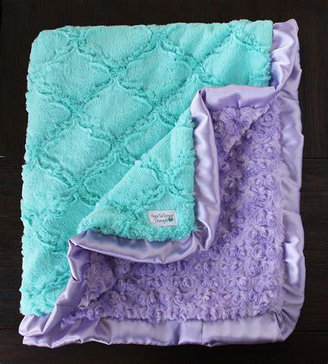 Minky Blankets Minky Blanket Baby Blanket For Aqua And Lavender