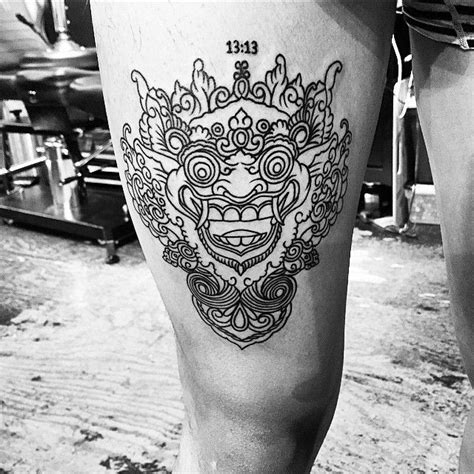 bali mask tattoo design 16 fabulous balinese mask tattoos tattoodo com