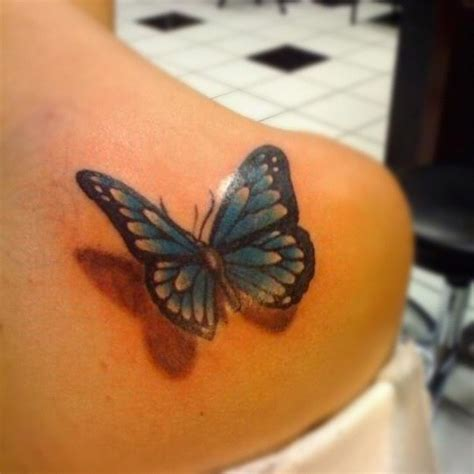 what do butterfly tattoos mean butterfly with a drop shadow on my shoulder tattoos