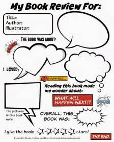 Review Template For Middle School by Book Review Activities For Middle School Book Review