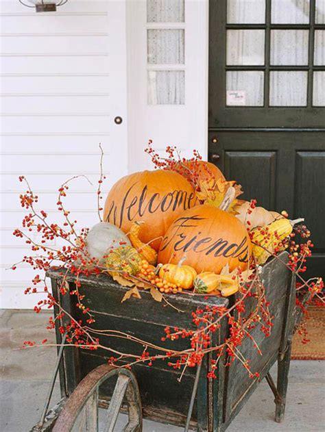 Thanksgiving Lights Outdoor Decorations 10 Entryway Ideas That Celebrate Fall In Style