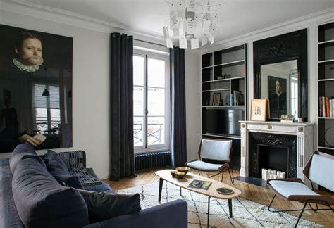 Intérieur Appartement Haussmannien by Chambre Mur Gris