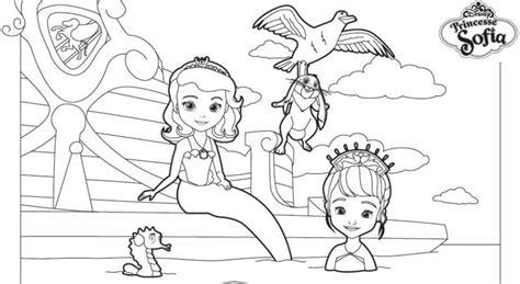 Coloriage A Imprimer Princesse Sofia Joue Les Sirenes