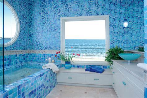 ocean inspired bathrooms дизайн ванной комнаты в голубых тонах