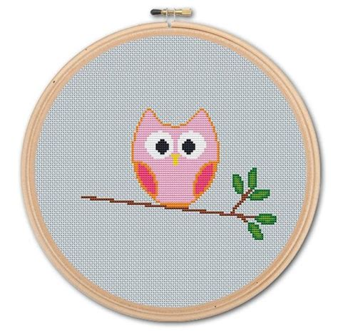 the of cross stitching for beginners step by step guide books pretty owl counted cross stitch pattern pdf instant