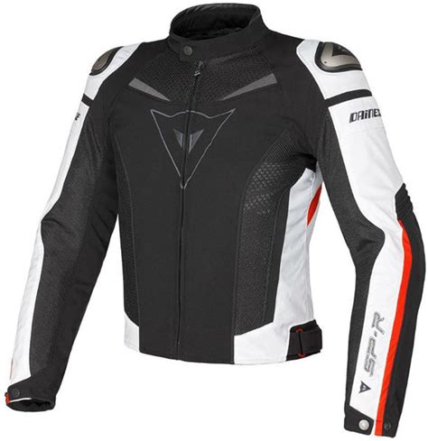 dainese super speed tex yazlik motosiklet ceketi siyah