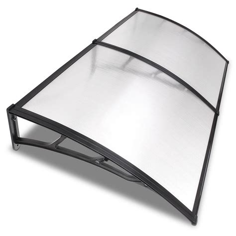 clear plastic awning 6 5ft awning patio cover rain protection window clear
