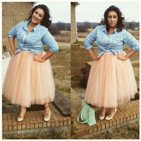plus size clarisa tulle skirt tea length tutu 7 layers