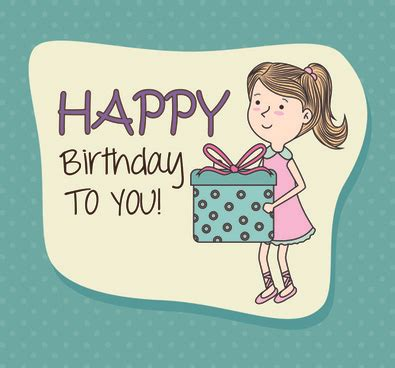 Happy Birthday Card Template Ilustrator by Happy Birthday Greeting Cards Free Vector 15 888