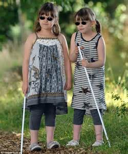 Blind Glasses Dark Twin Sisters 7 Must Learn To Walk With A Stick And Read
