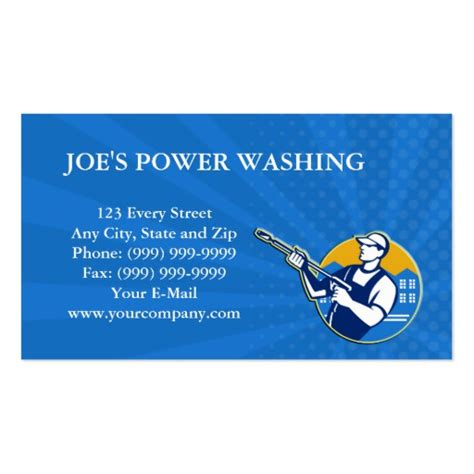 pressure washing business card templates power washing pressure water blaster worker sided