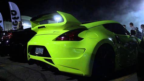 nissan fairlady 370z body kit yellow 370z with amuse body kit youtube