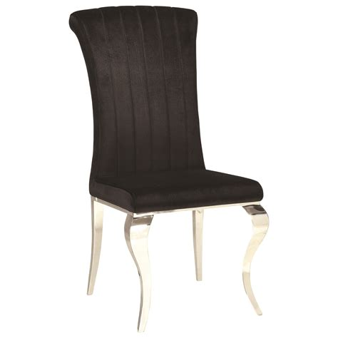 Glam Dining Chairs Coaster Carone Contemporary Glam Dining Room Set With Upholstered Chairs Miskelly Furniture