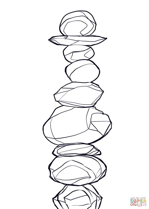 Rock Coloring Page balanced rocks coloring page free printable coloring pages