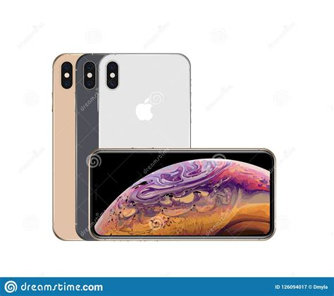 all colors of iphone xs max editorial photography illustration of golden electronic 126094017