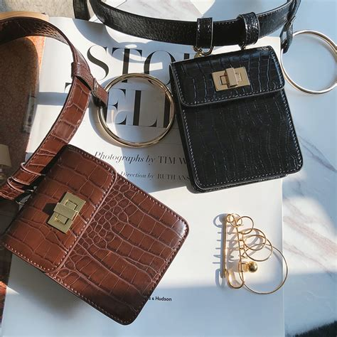 Quicksilver Ad 8517 Brown Leather usd 73 32 nanastore2017 mini small waist bag crocodile pattern pu leather belt joker