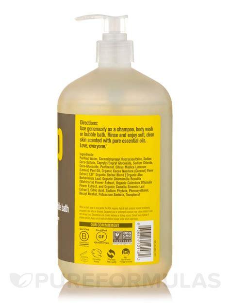 bathtub products everyone 174 soap 3 in 1 shoo body wash bubble bath