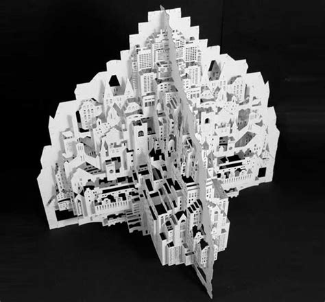 ingrid siliakus detailed paper architecture by dutch artist ingrid