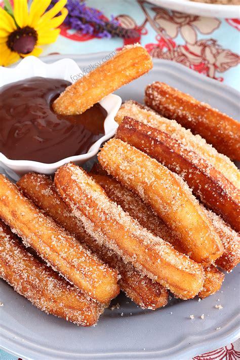 churros recipe allrecipescom homemade churros with chocolate dip sauce foxy folksy