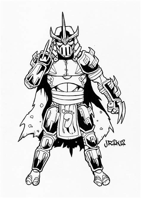ninja turtles shredder coloring pages tmnt shredder by dragonking65622 on deviantart