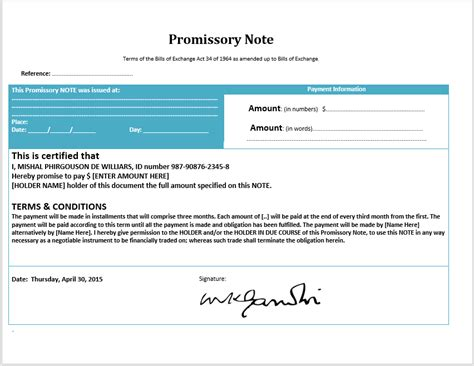 promissory note word template 43 free promissory note sles templates ms word and