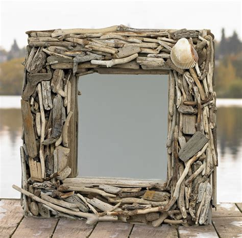 How To Make Driftwood Ls by Handcrafted Driftwood Pacific Mirror For Sale Cottage Bungalow