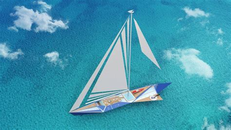 Origami Ship With Mast - project origami is a 100m sailing yacht concept