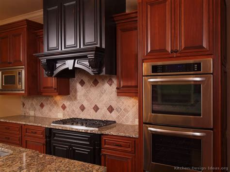 Pictures Of Kitchens Traditional Two Tone Kitchen Cherry Cabinet Kitchen Designs 2