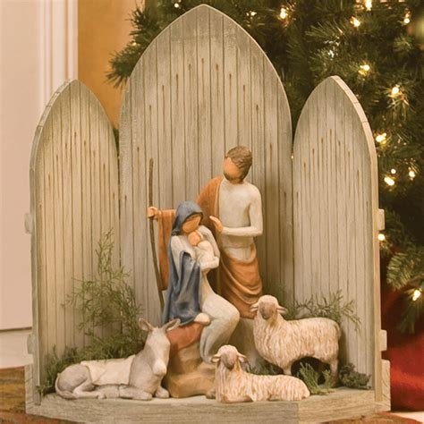 images of willow tree christmas story nativity set