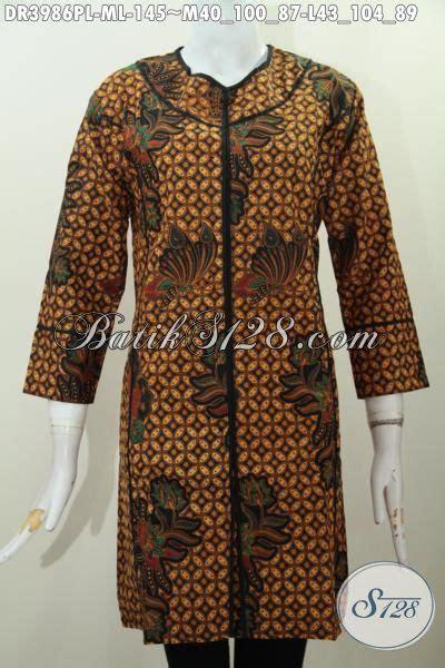 desain jahit baju batik dress batik model paling baru dengan motif dan warna